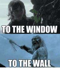 Game of Thrones, Tumblr, and Blog: TO THE WINDOW  TO THE WALL game-of-thrones-fans:  From the window to the wall.