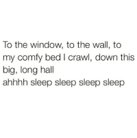 Friday vibes all winter long 💯😴: To the window, to the wall, to  my comfy bed I crawl, down this  big, long hall  ahhhh sleep sleep sleep sleep Friday vibes all winter long 💯😴