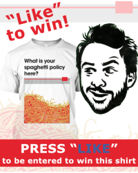 Memes, Good, and Http: to win!  What is your  spaghetti policy  here?  PRESS  to be entered to win this shirt ★★★ SHIRT GIVEAWAY!!! ★★★