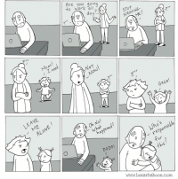 New comic about anger! www.lunarbaboon.com: to work all  Are you going  day?  NAGGING.  ーコ す ノ  grrr  Mom  す! ī  ( .Lnee  NOT  GAGA !  LEAVE  010  ALONE  Oh No!  what ned?  T  haf  appene  d Who's  responsible  ino's  DADA!  this  WarW.lunarbaboon.com  OP []で  in e  C(v  Olo New comic about anger! www.lunarbaboon.com