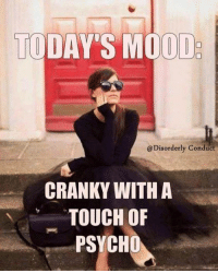 red letter media: TODA  MOOD  @Disorderly Conduct  CRANKY WITH A  TOUCH OF  PSYCHO