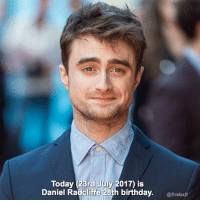 23rd July Fc:31.7k - Happy birthday dan! Hope wveryone has had a great day. I've been working on projects for my etsy shop (link in bio) and I went and saw cars 3 with my fam in the cinema which was great. - Share with happybirthdaydanrad - - { QOTD} What's the last film you watched in cinema? - harrypotter hp hpfact harrypotterfact danielradcliffe magic hogwarts films books: Today (23rd July 2017) is  Daniel Radcliffe 28th birthday. irebxit  @firebxlt 23rd July Fc:31.7k - Happy birthday dan! Hope wveryone has had a great day. I've been working on projects for my etsy shop (link in bio) and I went and saw cars 3 with my fam in the cinema which was great. - Share with happybirthdaydanrad - - { QOTD} What's the last film you watched in cinema? - harrypotter hp hpfact harrypotterfact danielradcliffe magic hogwarts films books