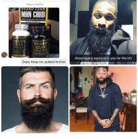 Guys if you're having problems growing a beard this is for you , follow @beardczarz to find out to get your FREE sample: Today at 3:48 PM  BEAR  ZAR  MAN CARD  01ical Certification BEARD  BEARD  CZAR  CZAR  Dope. Keep me updated brother  #beardgang appreciate you for the kit! Guys if you're having problems growing a beard this is for you , follow @beardczarz to find out to get your FREE sample