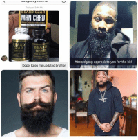 Guys!! Suffer from a patchy thin beard?! @nice_beard_dude Finally there is 1 simple thing that grows thick dark facial hair in just 5 weeks!! Works on every skin type👊🔥They are giving away FREE TRIALS RIGHT NOW 🔥You gotta check them out if you trying to get your beard game up👌 Works on all skin and hair types👉 @nice_beard_dude: Today at 3:48 PM  BEARD CLAR  MAN CARD  Official Certification of Manly Men  BEARD  CZAR  BEARD  CZAR  #beardgang appreciate you for the kit!  Dope. Keep me updated brother Guys!! Suffer from a patchy thin beard?! @nice_beard_dude Finally there is 1 simple thing that grows thick dark facial hair in just 5 weeks!! Works on every skin type👊🔥They are giving away FREE TRIALS RIGHT NOW 🔥You gotta check them out if you trying to get your beard game up👌 Works on all skin and hair types👉 @nice_beard_dude