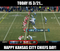 Chiefs blew a 21-3 lead... 🤣🤣🤣🤣 https://t.co/TGVpEyEXhh: TODAY IS 3/21  10  @GhettoGronk  HAPPY KANSAS CITY CHIEFS DAY! Chiefs blew a 21-3 lead... 🤣🤣🤣🤣 https://t.co/TGVpEyEXhh