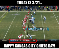 Chiefs blew a 21-3 lead... 🤣🤣🤣🤣: TODAY IS 3/21...  @GhettoGronk  HAPPY KANSAS CITY CHIEFS DAY! Chiefs blew a 21-3 lead... 🤣🤣🤣🤣