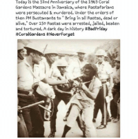 """Rasta might sound all cool now to some people, but Rasta has and does face much suffering, from all shades and backgrounds of people, purely because Rastafari does not bow down to Babylon. My locs are coming back soon ❤️💛💚 repost @chronixxmusic: Today is the 52nd Anniversary of the 1963 Coral  Gardens Massacre in Jamaica, where Rastafarians  were persecuted & murdered. Under the orders of  then PM Bustamante to Bring in all Aastas, dead or  alive."""" Over 150 Rastas were arrested, jailed, beaten  and tortured. A dark day in history #BadFriday  #CoralGardens itNeverForget Rasta might sound all cool now to some people, but Rasta has and does face much suffering, from all shades and backgrounds of people, purely because Rastafari does not bow down to Babylon. My locs are coming back soon ❤️💛💚 repost @chronixxmusic"""