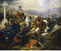 Smashing, Army, and Islam: Today, October 10th, in 732, Charles Martel smashes to pieces an entire Islamic army at Tours, and killed the governor of Cordoba in the fight.