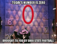 Football, Nfl, and Ohio State Football: TODAY S NUMBER IS ZERO  BROUGHT TO YOUBY OHIO STATE FOOTBALL !!!!!!