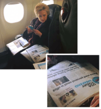 Memes, Flight, and 🤖: TODAY  WEEKEND  used personal email in office  spoke with  other Tramp advise  personal email in office HillaryClinton getting in a little reading on her flight
