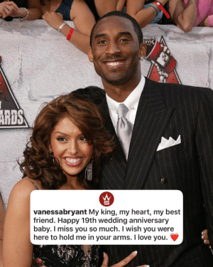 Today would've marked Vanessa & Kobe Bryant's 19th wedding anniversary!.. Our thoughts and prayers continue to be with the family 🙏❤️ #RIPKobeBryant #RIPGiannaBryant https://t.co/kRhe8aiF99: Today would've marked Vanessa & Kobe Bryant's 19th wedding anniversary!.. Our thoughts and prayers continue to be with the family 🙏❤️ #RIPKobeBryant #RIPGiannaBryant https://t.co/kRhe8aiF99