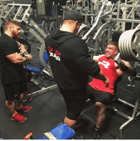Today's Chest session with the boyz always a GREAT workout when us three throw some weight around! A Candid moment of the workout today (See IG stories) @dallasmccarver @mattjansen8 @project_flex_fl DragonLair LairBoyz FlexLewis dallasmccarver mattjansen: Today's Chest session with the boyz always a GREAT workout when us three throw some weight around! A Candid moment of the workout today (See IG stories) @dallasmccarver @mattjansen8 @project_flex_fl DragonLair LairBoyz FlexLewis dallasmccarver mattjansen