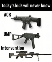acr: Today's kids will never know  ACR  UMP  Intervention