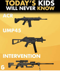 acr: TODAY'S KIDS  WILL NEVER  KNOW  ACR  UMP45  INTERVENTION