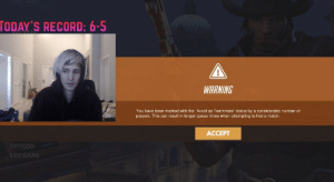 """Tumblr, Blog, and Game: TODAY'S RECORD: 6-5  WARNING  You have been marked with the """"Avoid as Teammate"""" status by a considerable number of  players. This can result in longer queue times when attempting to find a match.  ACCEPT  OPTIONS  EXIT GAME gamblerow: amazing honestly"""