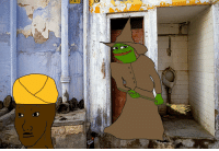 Toilet Witch Pepe and Indian Wojak: Toilet Witch Pepe and Indian Wojak