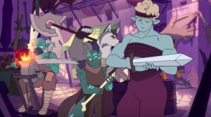 tolstoyevskywrites:  Can we… Can we just take a moment to talk about this hot buff lady from Season 4 of She-Ra? Possibly a relative of the Seaworthy bartender?  I think she was in the Crimson Wastes Bar as well! : tolstoyevskywrites:  Can we… Can we just take a moment to talk about this hot buff lady from Season 4 of She-Ra? Possibly a relative of the Seaworthy bartender?  I think she was in the Crimson Wastes Bar as well!