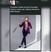Charlie, Jidenna, and Memes: Tolu  @tolu jm  If another Charlie and the Chocolate  Factory comes out, Jidenna should be  Willy Wonka oldie