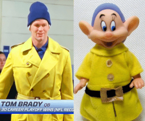 No way Tom Brady was winning showing up the game looking like this... https://t.co/uNwnkpQ1i0: TOM BRADY QB  30 CAREER PLAYOFF WINS (NFL RECO No way Tom Brady was winning showing up the game looking like this... https://t.co/uNwnkpQ1i0