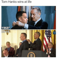 Because who doesn't love Tom Hanks 🙌🙌: Tom Hanks wins at life  1968  2016  WH Because who doesn't love Tom Hanks 🙌🙌