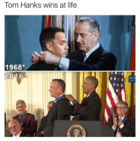 (@davie_dave ) is such a great meme page: Tom Hanks wins at life  1968*  2016  WH  GOV (@davie_dave ) is such a great meme page