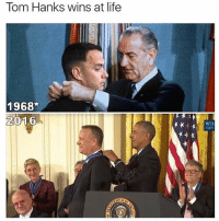 Follow @_theblessedone for Tom Hanks-level memes.: Tom Hanks wins at life  1968  2016  WH  GOV Follow @_theblessedone for Tom Hanks-level memes.