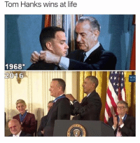 Such epicness.: Tom Hanks wins at life  1968  2016  WH  GOV Such epicness.