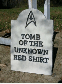 red shirt: TOMB  OF THE  UNKNOWN  RED SHIRT