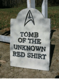 RIP: TOMB  OF THE  UNKNOWN  RED SHIRT RIP