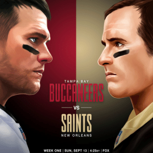 .@TomBrady vs. @DrewBrees in Week 1! 💪  @buccaneers @Saints   📺: 2020 NFL Schedule Release live now on @nflnetwork https://t.co/cXc1rDWima: .@TomBrady vs. @DrewBrees in Week 1! 💪  @buccaneers @Saints   📺: 2020 NFL Schedule Release live now on @nflnetwork https://t.co/cXc1rDWima