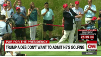 Advice, Memes, and Obama: TOMORROW AT 10 PM ET  DEMOCRATIC  LEADERSHIP DEBATE  25 05 34  HRS  MIN  SEC  PAR FOR THE PRESIDENCY  TRUMP AIDES DONT WANT TO ADMIT HES GOLFING 8:54 PM ET  AC360 It seems to be par for the course that Presidents spend a lot of time golfing. President Donald J. Trump constantly tweeted that President Barack Obama was golfing when he should have been doing other things. But is the current president taking his own advice?