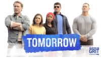 We're going to give this holiday weekend some fireworks tomorrow night on American Grit! #FindYourGrit at 9pm/8ct on FOX!: TOMORROW  GRIT  SUNDAYSFOX We're going to give this holiday weekend some fireworks tomorrow night on American Grit! #FindYourGrit at 9pm/8ct on FOX!