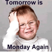 Memes, Tomorrow, and Monday: Tomorrow is  et  Monday Again