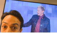 Head, Memes, and Tomorrow: Tomorrow: @TheEllenShow pats my head through a TV screen while I wait backstage to be on @TheEllenShow. https://t.co/kPCslzaJjE