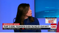 """Elizabeth Warren, Memes, and Pocahontas: TONIGHT AT 9P ET  The MESSY TRUTH  With VAN JONES  23 28  BREAKING NEWS  TRUMP TO DEMS: """"POCAHONTAS IS NOW THE FACE OF YOUR PARTY"""" CNN  Mary Katharine Ham  Political Commentator  8:36 PM ET  AC360° President Donald J. Trump taunted Democrats by telling them """"Pocahontas is now the face of your party"""" -- his insult of choice for Sen. Elizabeth Warren  http://cnn.it/2lyEx07"""