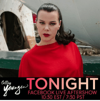 @debimazar is spilling the deets tonight on our Facebook live GettingYounger aftershow 💋! Don't miss her at 10:30P!: TONIGHT  NIGHT  Getting  FACEBOOK LIVE AFTERSHOW  10:30 EST 7:30 PST @debimazar is spilling the deets tonight on our Facebook live GettingYounger aftershow 💋! Don't miss her at 10:30P!