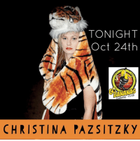 Club, Memes, and Banana: TONIGHT  Oct 24th  Comedy Club  CHRISTINA PAZ SITZKy Outta control, Cincinnati! @christinapaz TONIGHT at Go Bananas 8pm - still tickets available on our website. Get em while they last!
