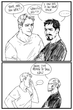 hellogarbagetime: spaceliondad:  in which Tony realizes he can wear a literal mask to accompany his figurative emotional mask!   I can't believe Tony literally does the thing in IM v3 74 (except yeah, I can) : TONY, ARE  You uPSE T  I CAN SEE  NO 22?  OKAY, IM hellogarbagetime: spaceliondad:  in which Tony realizes he can wear a literal mask to accompany his figurative emotional mask!   I can't believe Tony literally does the thing in IM v3 74 (except yeah, I can)