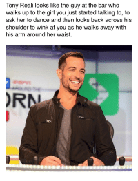 https://t.co/Ze4DmNM2Ur: Tony Reali looks like the guy at the bar who  walks up to the girl you just started talking to, to  ask her to dance and then looks back acroSS his  shoulder to wink at you as he walks away with  his arm around her waist.  RN https://t.co/Ze4DmNM2Ur