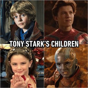 Father of many.: TONY STARK'S CHILDREN Father of many.