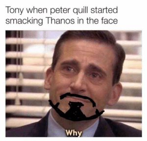 Tony When Peter Quill Started Smacking Thanos In The Face Why - Meme.xyz: Tony when peter quill started  smacking Thanos in the face  Why Tony When Peter Quill Started Smacking Thanos In The Face Why - Meme.xyz