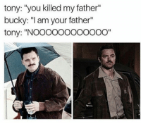 """. """"That's not true! That's impossible!"""" BuckyBarnes TheAvengers TonyStark CivilWar Marvel IronMan: tony: """"you killed my father""""  bucky: """"I am your father""""  tony: """"NOOOOOOOOOOOO"""" . """"That's not true! That's impossible!"""" BuckyBarnes TheAvengers TonyStark CivilWar Marvel IronMan"""