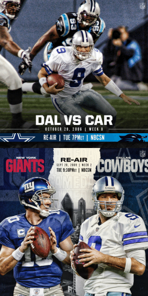 .@tonyromo's first start (2006). The first game at Cowboys Stadium (2009).  Watch two memorable @dallascowboys games tonight on NBCSN! @SNFonNBC (7pm ET & 9:30pm ET) https://t.co/8rKX8rPuwZ: .@tonyromo's first start (2006). The first game at Cowboys Stadium (2009).  Watch two memorable @dallascowboys games tonight on NBCSN! @SNFonNBC (7pm ET & 9:30pm ET) https://t.co/8rKX8rPuwZ