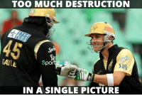 Memes, Premier League, and Too Much: TOO MUCH DESTRUCTION  GAYLE  Spor  IN A SINGLE PICTURE Once upon a time in IPL - Indian Premier League  Chris Gayle and Brendon McCullum <3