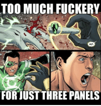 Memes, Too Much, and Comics: TOO MUCH FUCKERY  No.  FOR TUST THREE PANELS Like most comics now. - Hawkman greenlantern kylerayner sinestro injustice dc