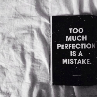 Hin: TOO  MUCH  PERFECTION  IS A  MISTAKE.  HIN ABOUT  BLED TUMBLRCoM