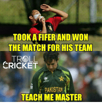 Memes, Run, and Beats: TOOK AFIFER AND WON  THE MATCH OR HIS TEAM  TR LL  CRICKET  PAKISTAN  TEACH ME MASTER Papua New Guinea beat hongkong by 14 runs 😎  <finisher>