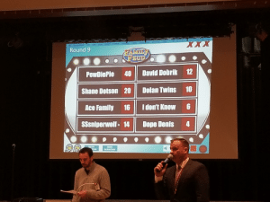 Dope, Family, and Family Feud: Tools  ow  Round 9  PewDiePie 40 David Dobrik 12  Shane Dotson 20 || Dolan Twins 10  Ace Family 16 Idon't Know 6  SSsniperwolf 14 Dope Denis 4  ow  UDE  QUESTION My school play Family Feud and the question is Who is the best Youtuber?