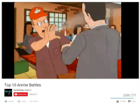We made the list!: Top 10 Anime Battles  WatchMojo.com  mojo  Subscribe  9,880,469  Add to  Share  More  3,881,777  36.522  4,307 We made the list!