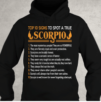 Birthday, Click, and Love: TOP 10 SIGNS  TO SPOT A TRUE  LSCORPIOJ  1. The most mysterious people! They are so POWERFUL!  2. They are fiercely loyal and over protective.  3. Scorpions are brutally honest.  4. They have a sarcastic sense ofhumor  5. They seem very tough but are actually real softies.  6. They rarely fallin love but when they do, theylove hard.  7 They always find out the truth.  8. hey never share other people's secrets.  9. Scorpio will always rise from their own ashes.  10Scorpio is well known for never forgetting a betrayal. Only for PROUD #Scorpio - Limited Edition :) Order here => https://zodiacthing.com/true-scorpio Click link above to order now! Or click link in profile for more exclusive designs! Share & tag a Scorpio friend who would look great in this t-shirt (y) (y) (y) #birthday #scorpioseason #teamscorpio #scorpiozodiac #iamscorpio #bornasscorpio #ItsaScorpioThing #zodiacthingcom